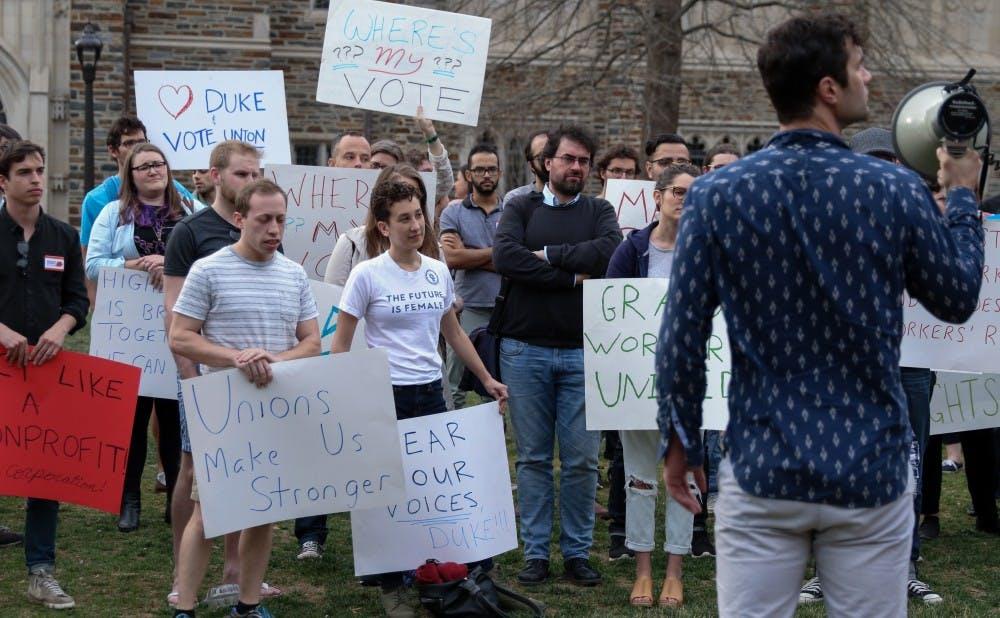 <p>The Duke Graduate Student Union has withdrawn its petition to unionize.&nbsp;</p>
