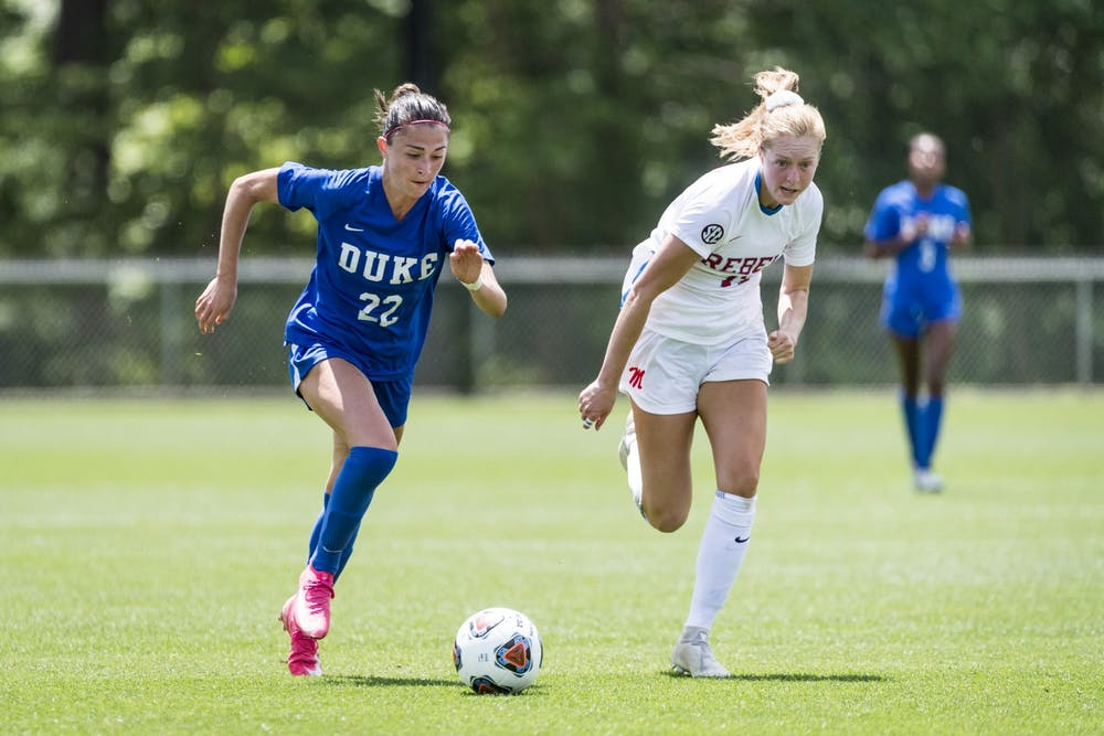 Delaney Graham's move back to winger has been a boost to Duke's offense.