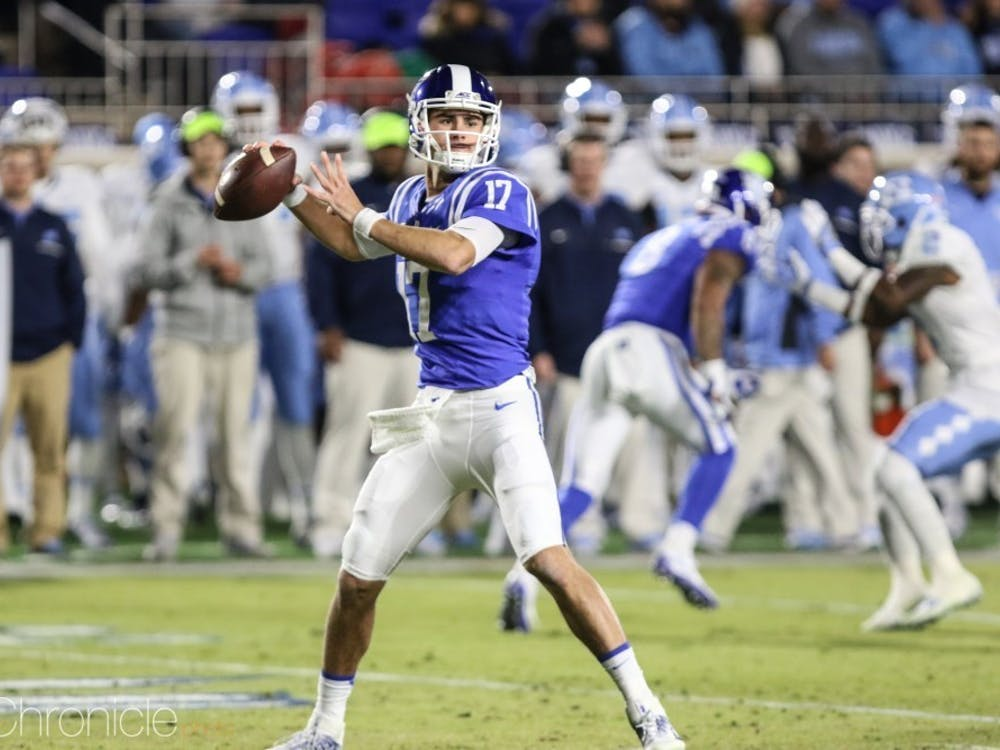 Jones led Duke to its first consecutive bowl game victories in program history in 2017 and 2018, winning MVP each time