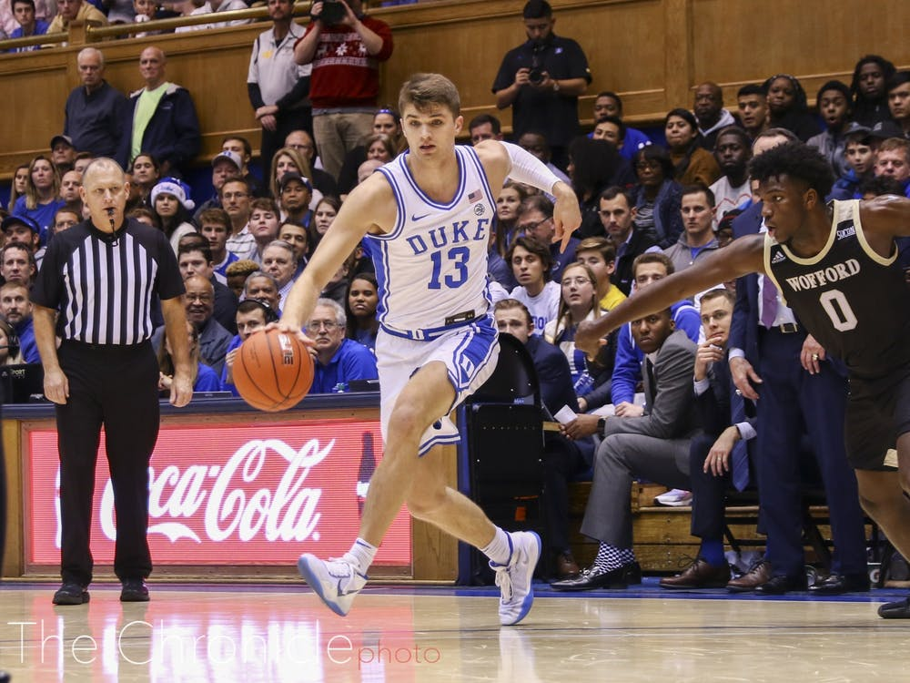 Joey Baker has scored only nine points over Duke's last two games after dropping 22 against Wofford