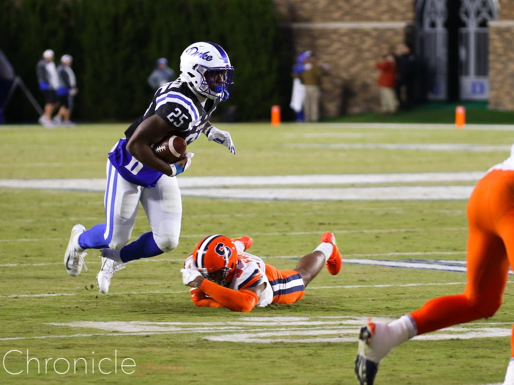 Deon Jackson and the Duke rushing attack could not get going against the Orange's typically porous rushing defense.