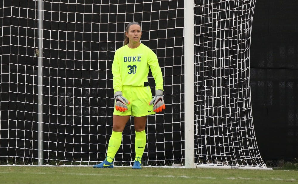 <p>Sophomore goalkeeper E.J. Proctor was named ACC Defensive Player of the Week after a stalwart performance at Penn State Aug. 28.</p>