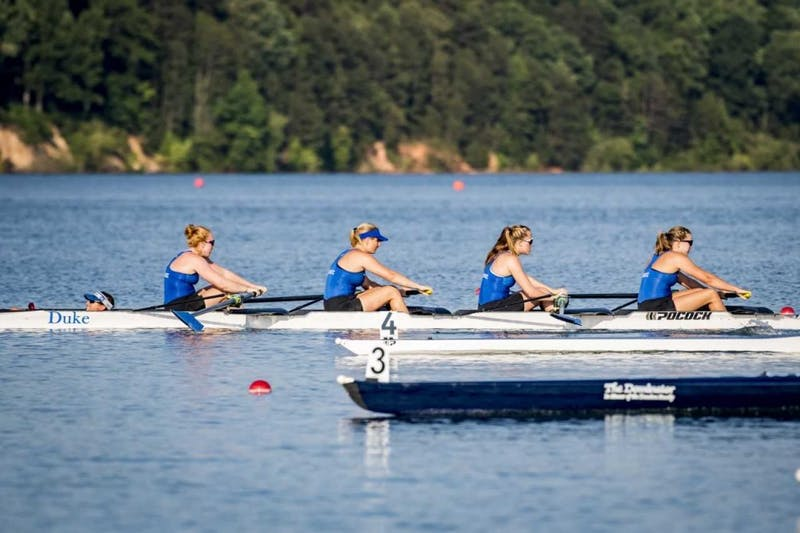 Duke's V4 won first place at the ACC championship, the program's first gold medal in its history.