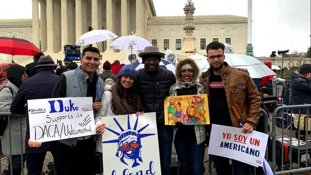 From left to right: junior Salvador Chavero Arellano, senior Ana Ramirez, actor Bambadjan Bamba, sophomore Ana Trejo, senior Axel Herrera Ramos.