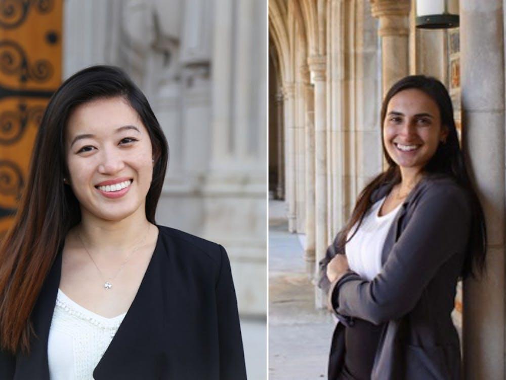 Gwen Geng (left) and Alexa Soren (right) are bidding to replace senior Nikhil Gavai as SOFC chair.