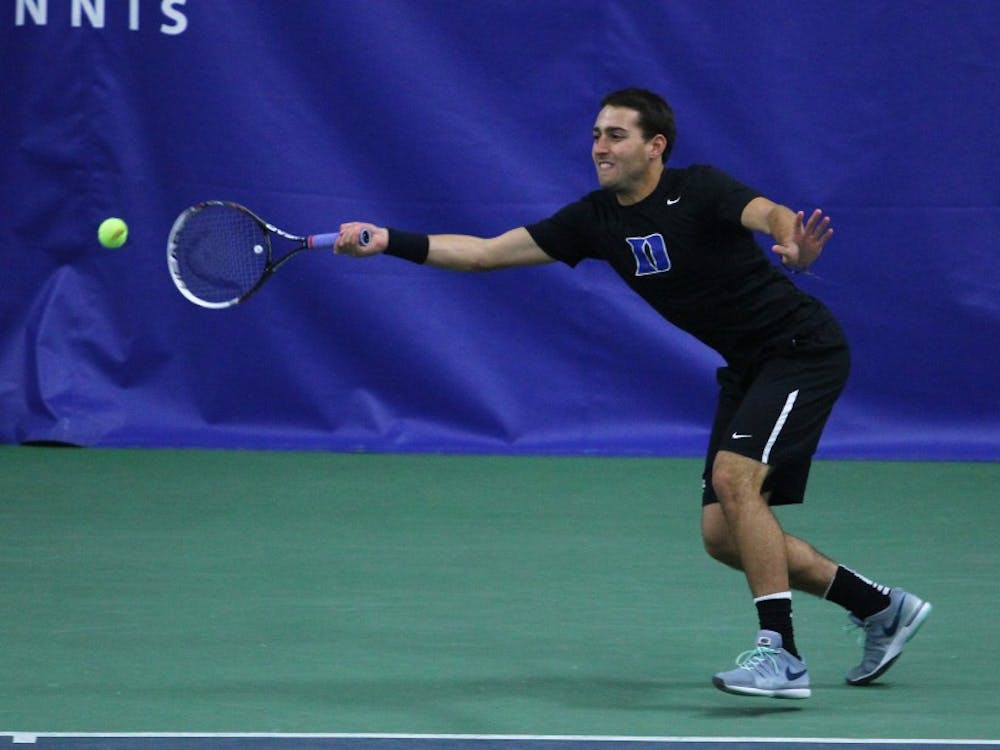 Junior Josh Levine was named ACC Player of the Week for his two come-from-behind, three-set singles victories in Duke's two dual matches last weekend.