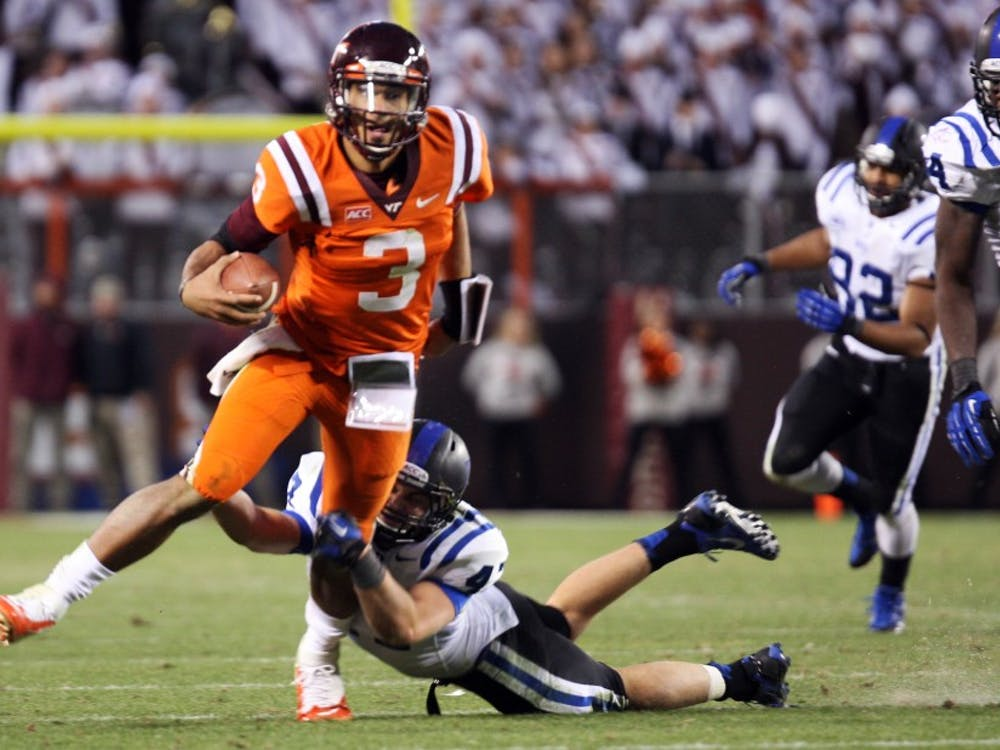 Columnist Zac Elder writes that he could barely contain his excitement in the press box during Duke's 13-10 upset victory against Virginia Tech last weekend.