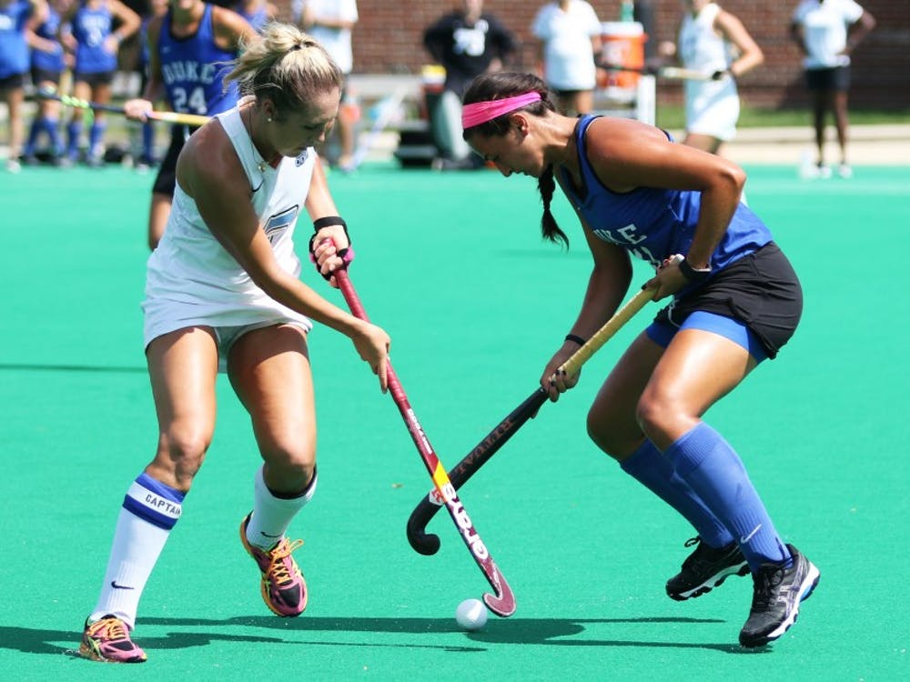 The Blue Devils will need to rely on guidance from upperclassmen like senior Caroline Andretta to hold off two talented teams from the Northeast.