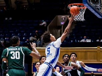 Freshman forward Jaemyn Brakefield was one of Duke's few bright spots against Michigan State, notching 11 points on 4-of-6 shooting.