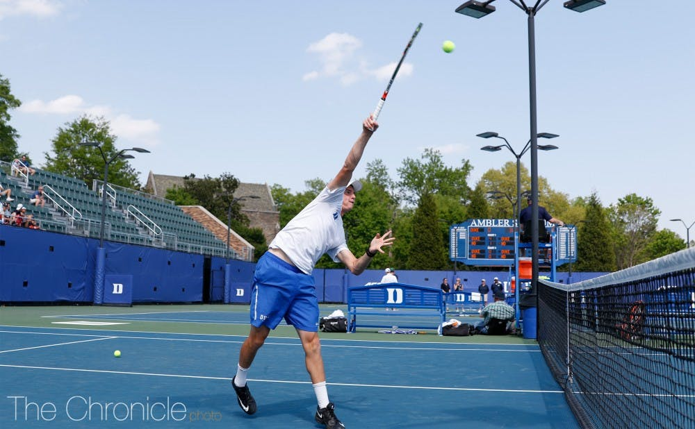 <p>Doubles specialist Nick Stachowiak will team up with freshman Sean Scully at this weekend's James Bonk Invite.</p>