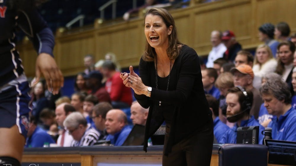 Head coach Joanne P. McCallie will look to bounce back after last year's Blue Devils suffered through the program's worst season since 1993