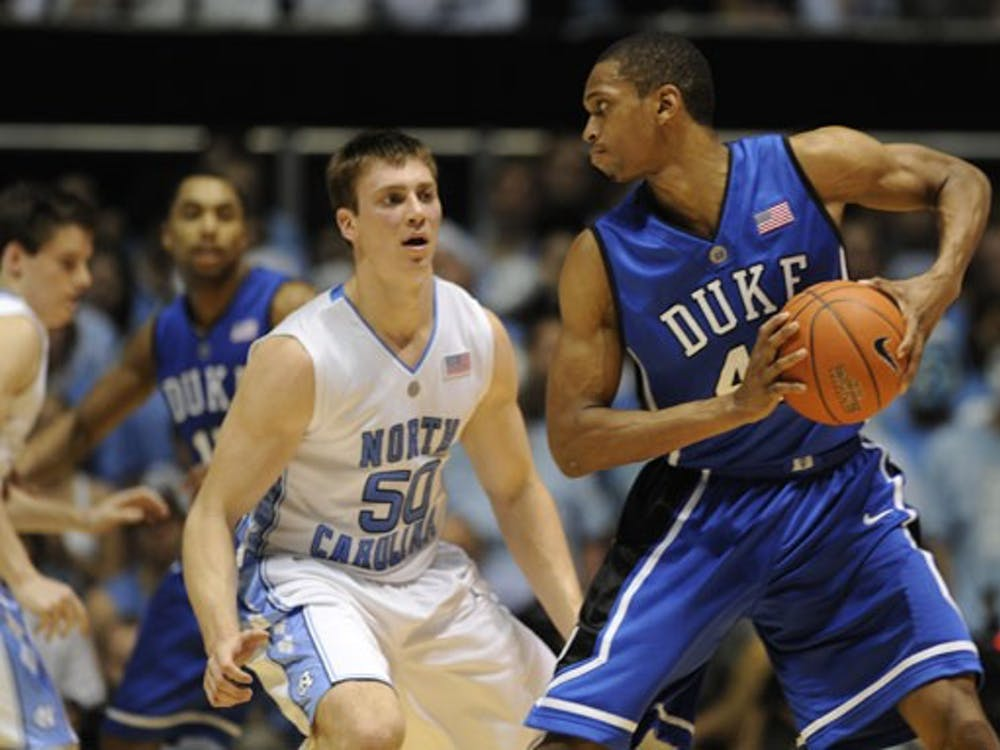 Lance Thomas won't have to go up against North Carolina's Tyler Hansbrough this year, but Joe Drews still expects a close game Wednesday.