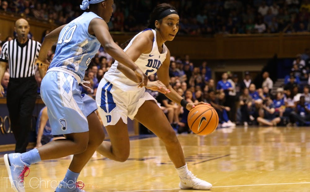 <p>Lexie Brown scored 34 points in Duke's first meeting with N.C. State this year.</p>