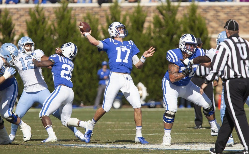 <p>Daniel Jones will make his second consecutive bowl start for Duke in what could be his finale as a Blue Devil.</p>