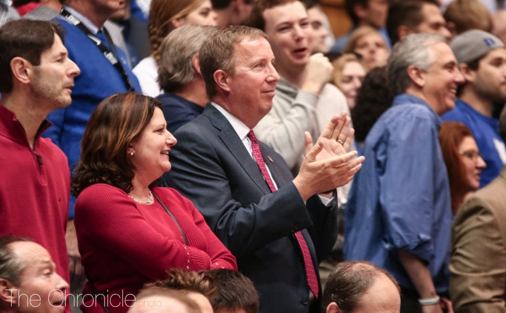 <p>Current St. John's athletic director Mike Cragg returns to Cameron in Duke's matchup against St. John's.</p>
