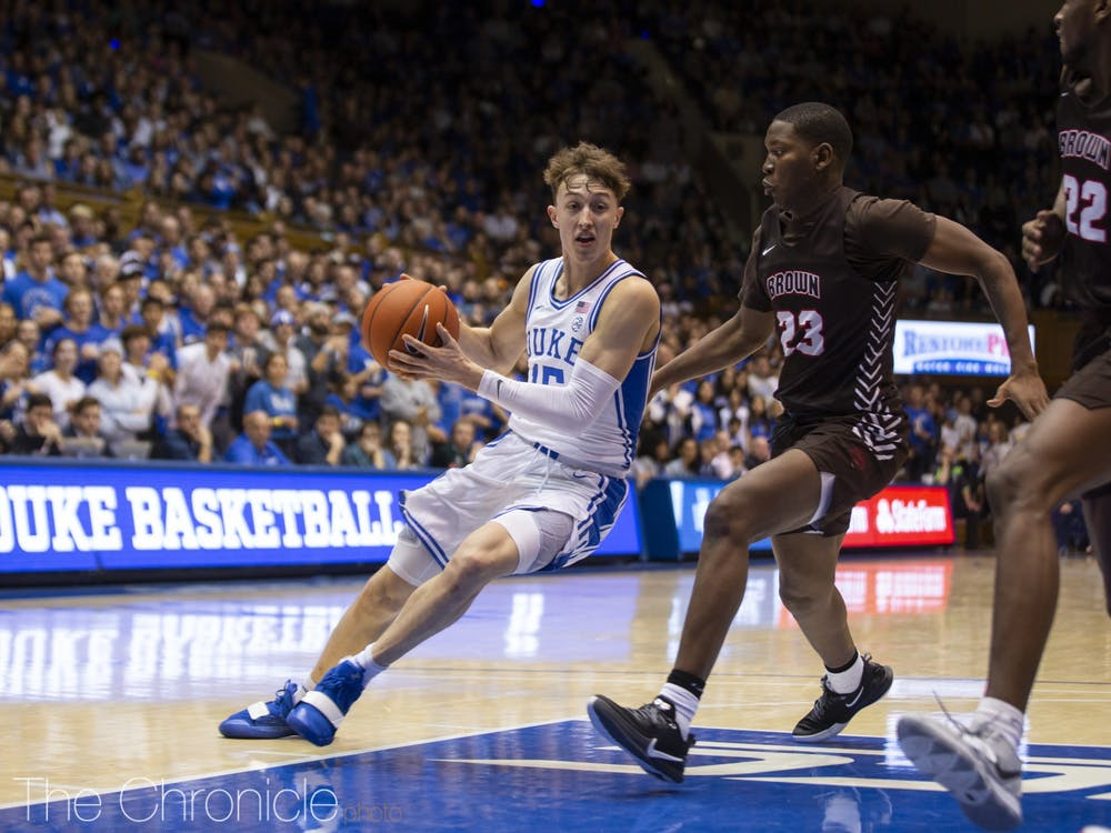 <p>Alex O'Connell and Joey Baker have developed into much-needed sparks off the bench for Duke.</p>