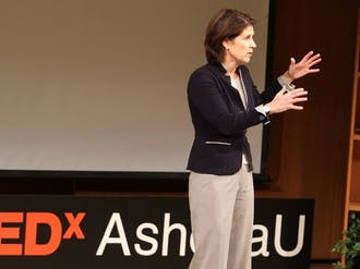 Kimberly Jenkins, senior advisor to the president and provost for innovation and entrepreneurship, spoke at the TEDxAshokaU event Friday.