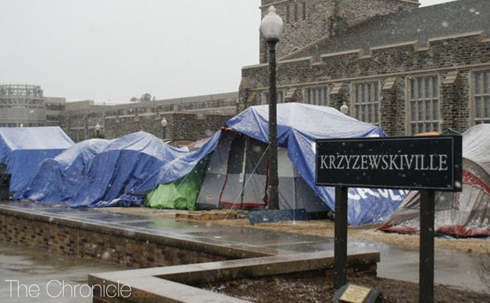 <p>Krzyzewskiville can approximately hold 1,200 students.</p>