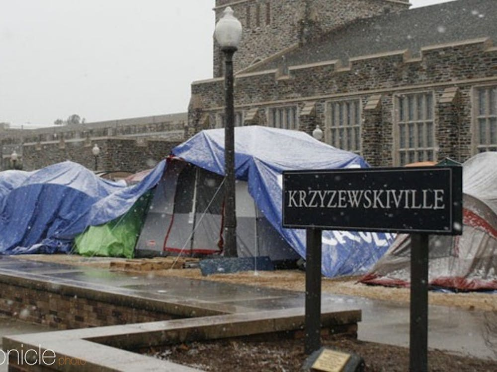 Krzyzewskiville can approximately hold 1,200 students.