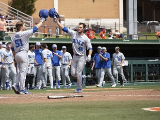 RJ Schreck hit the game-tying two-run homer in Saturday's game.
