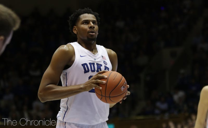 Marques Bolden will be important for the Blue Devils Saturday.