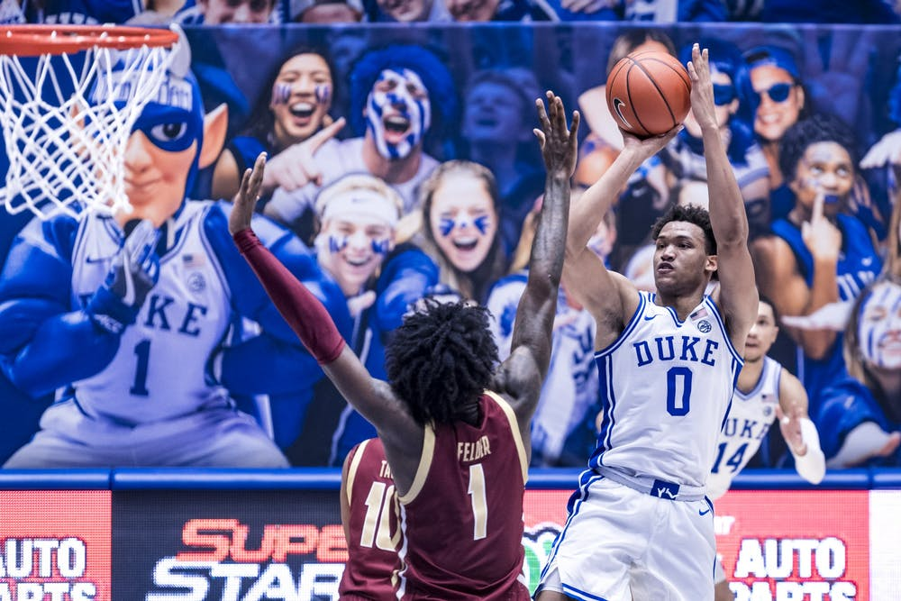 <p>Wendell Moore Jr. scored 25 points Wednesday against Boston College, four more than he had scored in Duke's first five games combined.</p>
