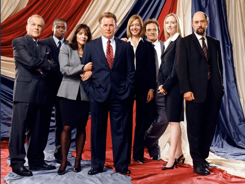 """The cast of the acclaimed series """"The West Wing"""" reunited for a special encouraging people to vote — but why?"""
