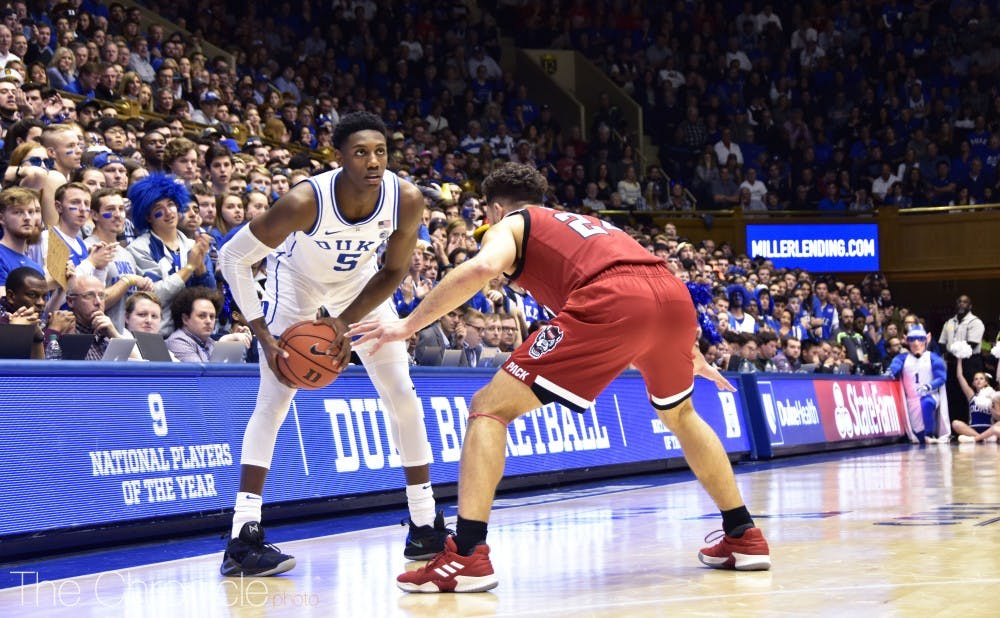 <p>R.J. Barrett made smart decisions with the ball with 10 assists and no turnovers Saturday.</p>
