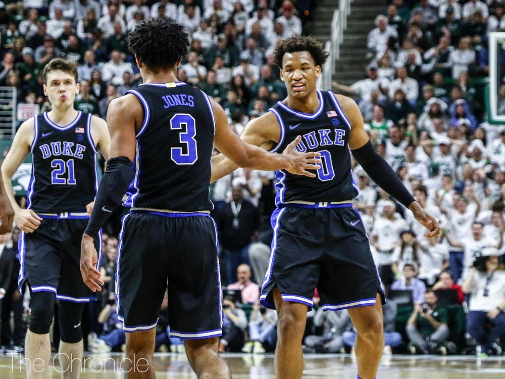 <p>Tre Jones and his teammates will look to stay in the flames in Blacksburg, Va., as the Blue Devils are fresh off an impressive road win against No. 11 Michigan State.</p>