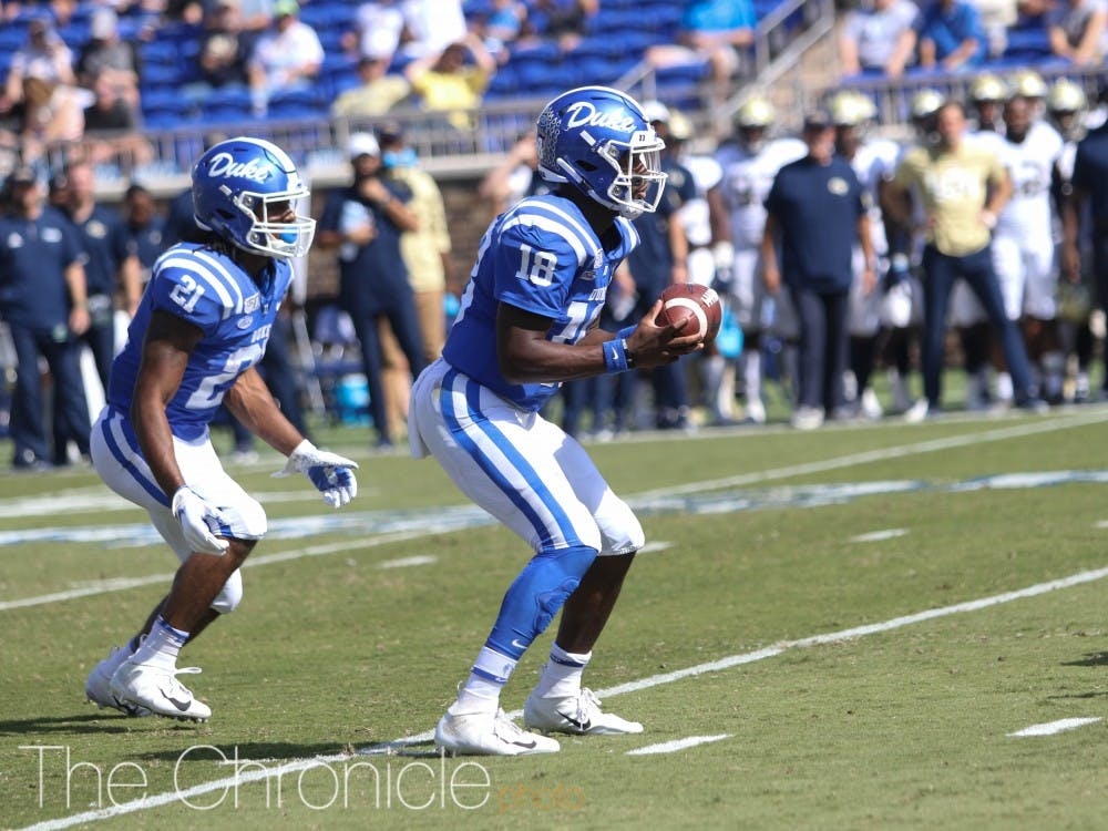 <p>Duke's offense dazzled against the Yellow Jackets.</p>