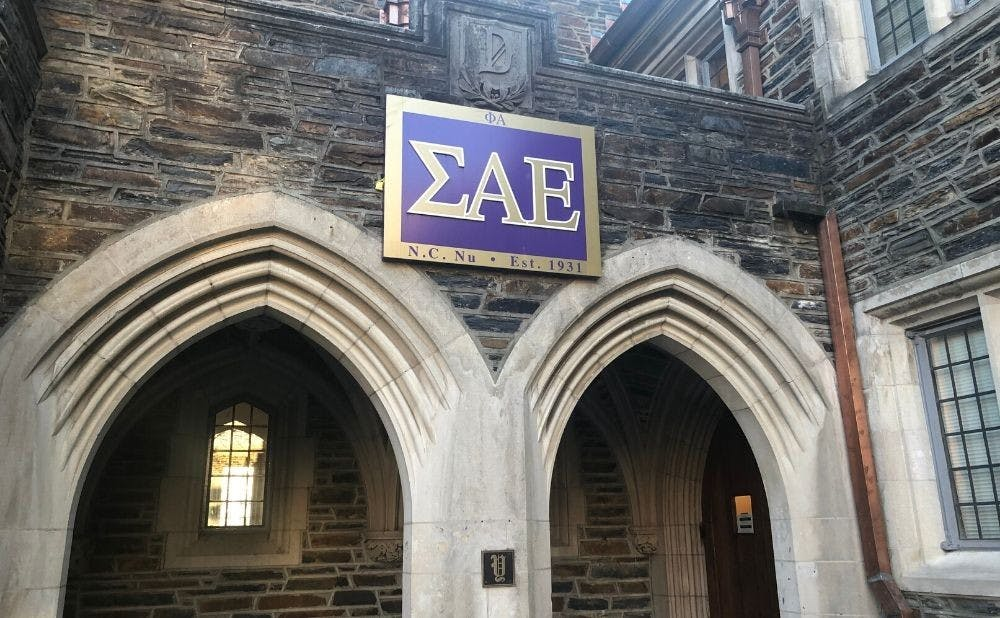 <p>SAE may have to leave their section due to their suspension.</p>