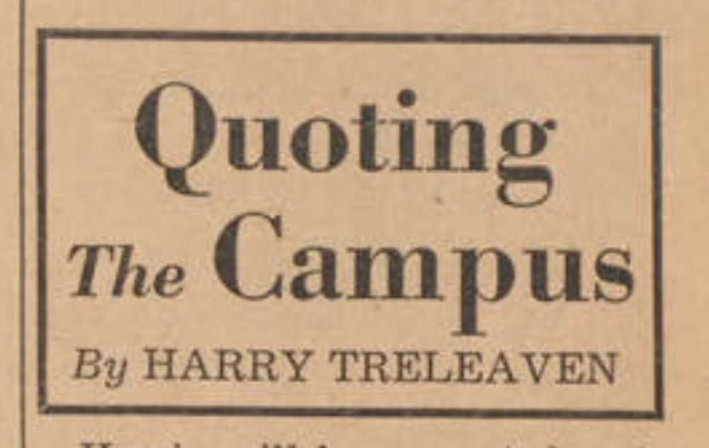 Flashback: 'Quoting the Campus' column chronicles student
