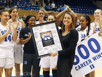 Head coach Joanne P. McCallie formed a number of lasting relationships with her players throughout her head coaching career at Duke.