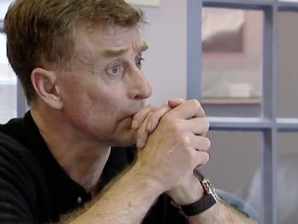 "The documentary series ""The Staircase"" follows the trial of Michael Peterson, a Duke alum and crime novel writer charged with killing his wife."