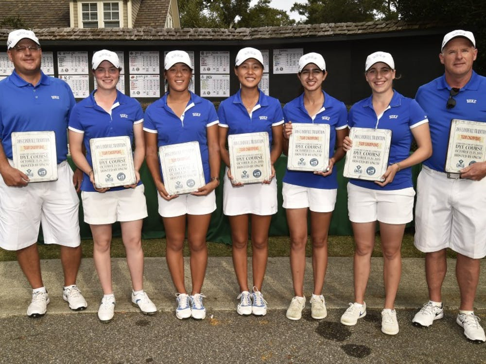 Two weeks after winning the Tar Heel Invitational, the Blue Devils captured more hardware Sunday, finishing the Landfall Tradition in Wilmington, N.C., as the only team under par.