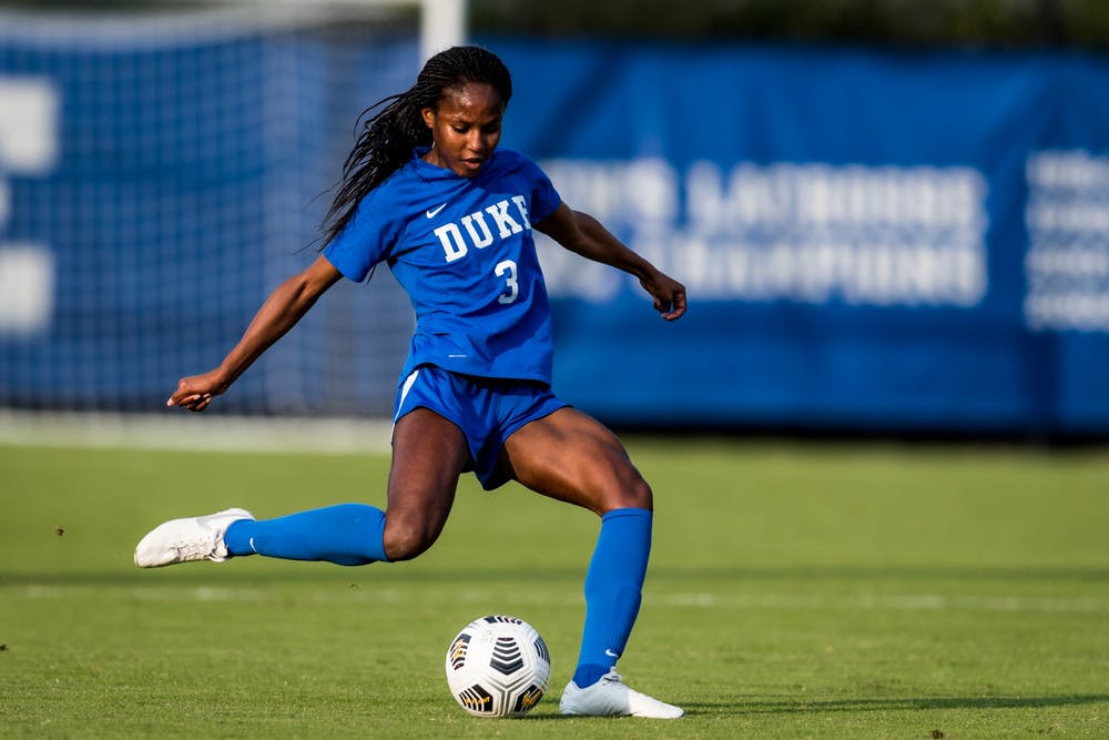 <p>Senior defender Taylor Mitchell has been key to Duke's new 4-3-3 scheme.</p>