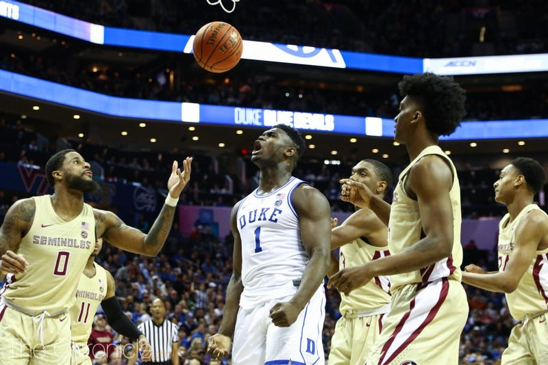 Zion Williamson scored at least 20 points in all three games of the ACC tournament to lead Duke to the title.