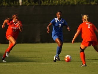 Sophomore Imani Dorsey broke a scoreless tie in the 72nd minute as the Blue Devils beat Clemson Saturday in their lone preseason tune-up.