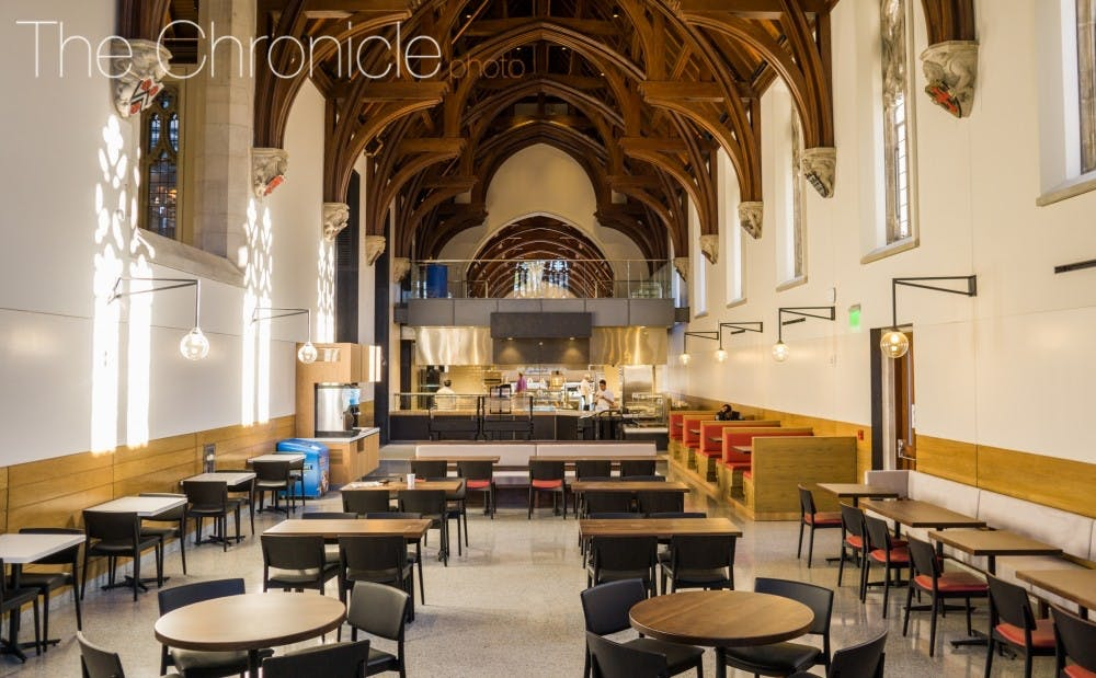 <p>West Union, which contains 13 new eateries, opened to students&nbsp;after more than two years of construction.</p>
