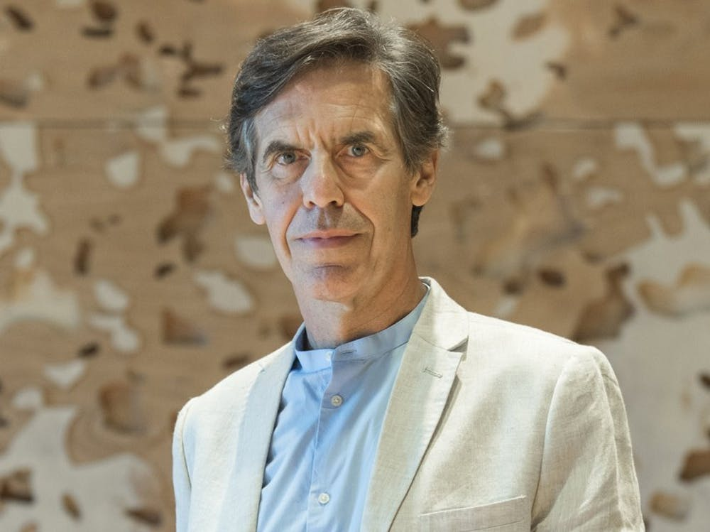 <p>Laurent Bayle, the Director of Philharmonie de Paris, spoke at the Rubenstein Arts Center on Feb. 18.</p>