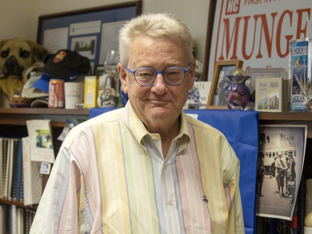 <p>Outgoing Executive Vice President Tallman Trask in his office.</p>