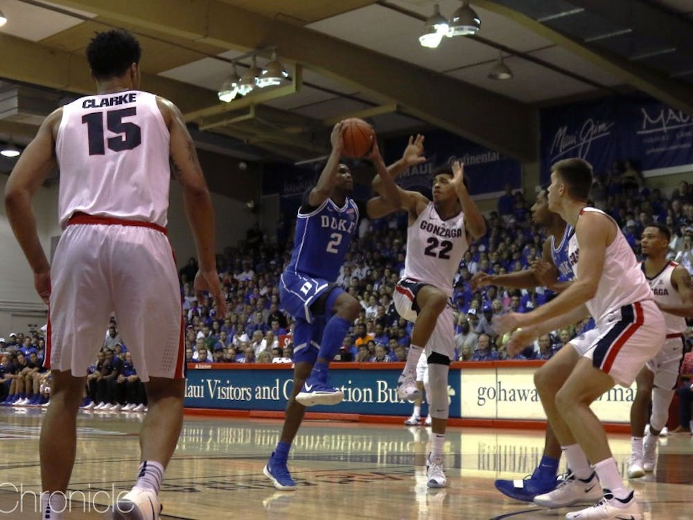 Freshman Cam Reddish looked more focused on scoring from the interior Wednesday.