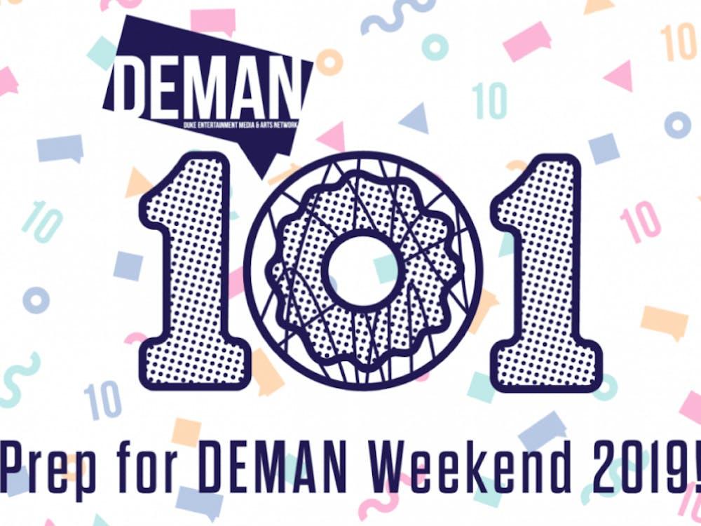 DEMAN 101, held Wednesday evening in the Rubenstein Arts Center lounge, prepares students for DEMAN Weekend, scheduled for Nov. 1–2.