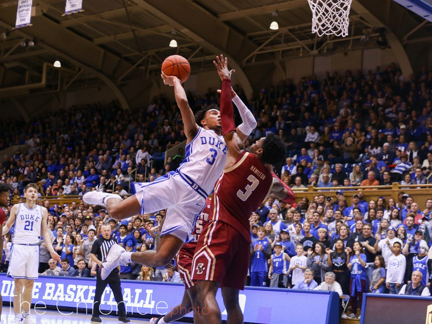 Tre Jones dished out 10 assists and gave up just one turnover against Boston College Tuesday.