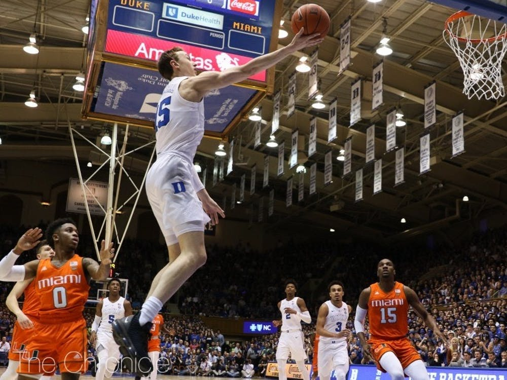 Alex O'Connell provided a much-needed 3-point spark off the bench for the Blue Devils.
