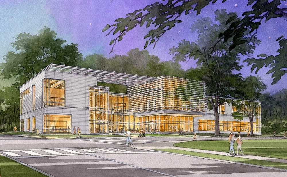 """<p>The new Arts Center is expected to be a """"game-changer for the arts at Duke"""" at the corner of Anderson Street and Campus Drive across from the Nasher Museum of Art.</p>"""