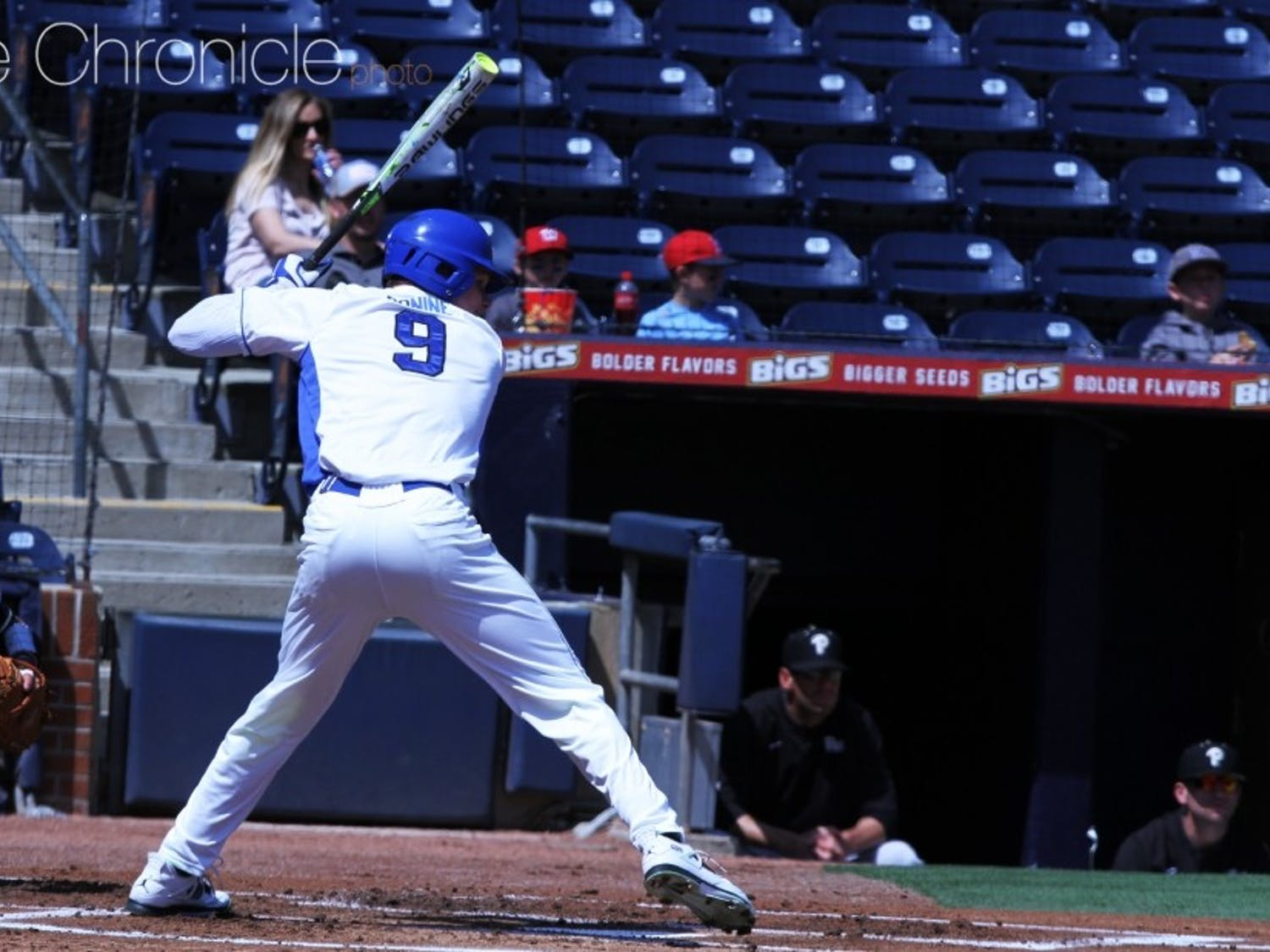 Griffin Conine blasted a three-run homer to break Tuesday's game open for his 13th long ball of the season.