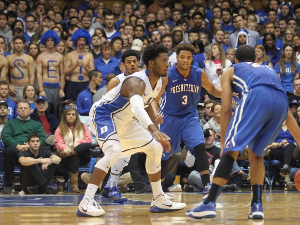 Justise Winslow spearheads Duke's pressure defense with his strength and athleticism.