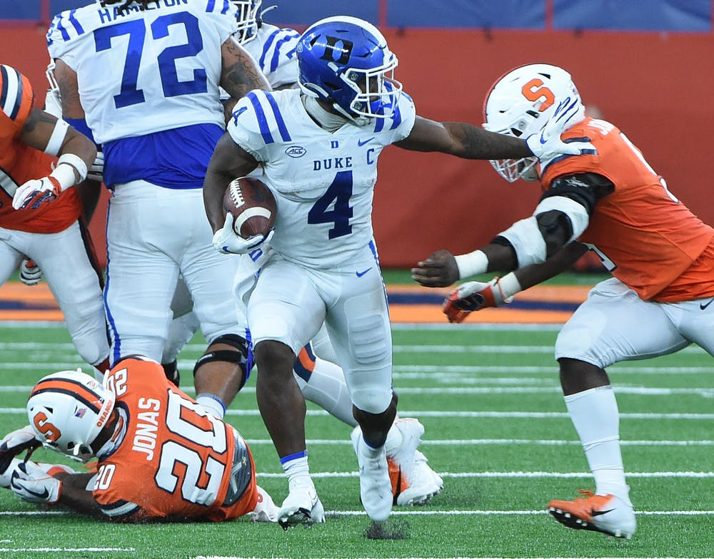 Senior running back Deon Jackson will need to get going early in order for the Blue Devils to challenge N.C. State on its home turf.