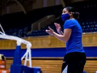 Head coach Kara Lawson took over for the Blue Devils this offseason.